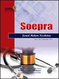 cover jurnal Soepra: Jurnal Hukum Kesehatan