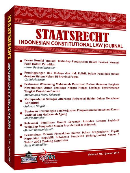 cover STAATSRECHT Indonesian Constitutional Law Journal
