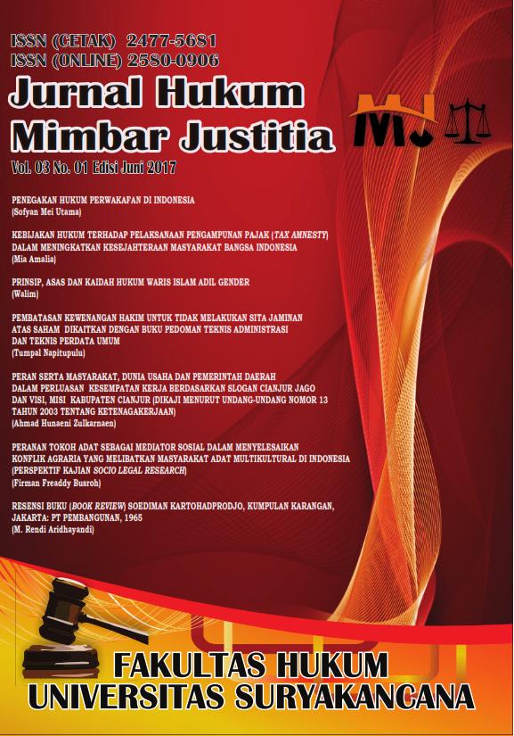 cover Jurnal Hukum Mimbar Justitia