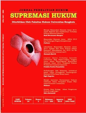 cover Supremasi Hukum: Jurnal Penelitian Hukum